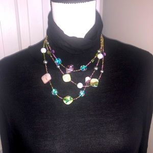 Multi-Color Beaded Necklace
